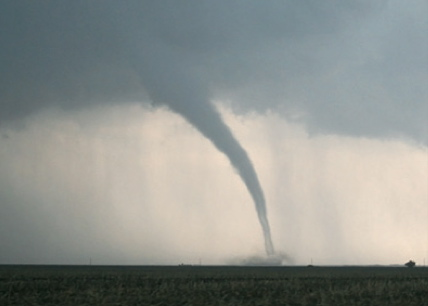 Extreme weather outbreak with and tornado funnel.